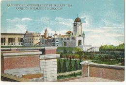 Exposition Bruxelles 1910 Pavillon D' Italie Et Uruguay - Uruguay