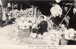Real Photo 1958 - Viet-Nam - Saïgon - Marché De Cầu Ông Lãnh - Coco - Animée - 2 Scans - Vietnam