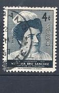 CUBA 1957 Nurse Victoria Bru Sanchez Commemoration  USED - Used Stamps