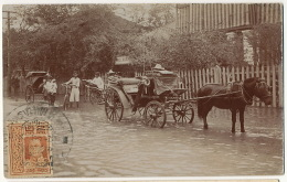 Siam  Real Photo Trocadero Hotel Bangkok P. Used Stamp Flooding In The Street - Tailandia