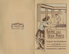 69 LYON Pub 2 Volets Des Bains Des Deux Ponts   2 Scans - Lyon