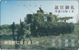 Japan  Phonecard Militär - Waffengattung Vom Heer  Panzer - Armee