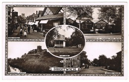 RB 1124 - 1915 Real Photo Postcard - Droitwich High St & Victoria Square - Brine Baths Worcestershire - Worcestershire