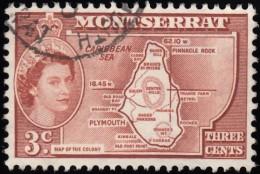 MONTSERRAT - Scott #131 Map Of Presidency / Used Stamp - Montserrat