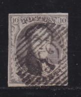 BELGIUM, 1858, Used Stamp(s), Leopold !, Brown 10 Cent, MI 7, #10253, - 1858-1862 Medallions (9/12)