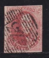 BELGIUM, 1858, Used Stamp(s), Leopold !, Red 40 Cent, MI 9, #10255, - 1858-1862 Medallions (9/12)