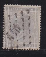 BELGIUM, 1865, Used Stamp(s), Leopold !, Grey 10 Cent, MI 14, #10259, - 1865-1866 Profile Left