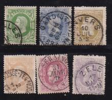 BELGIUM, 1869, Used Stamp(s), Leopold II,  MI 27=34, #10263,  6 Values Only - 1883 Leopold II