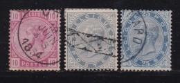 BELGIUM, 1883, Used Stamp(s), Leopold II,  MI 35=38, #10264, 3 Values Only - 1883 Leopold II