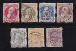BELGIUM, 1905, Used Stamp(s), Leopold II, Without Strip, MI 71-77,  #10273, Complete - 1905 Grove Baard