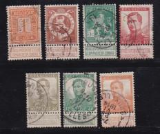 BELGIUM, 1912, Used Stamp(s), Definitives, With Strip, MI 89=99,  #10276, 7 Values - Belgium