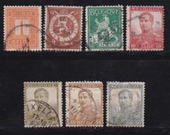 BELGIUM, 1912, Used Stamp(s), Definitives, Without Strip, MI 89=99,  #10277, 7 Values - Belgium