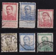 BELGIUM, 1912, Used Stamp(s), Albert I, MI 100=103,  #10278, 6 Values Only - 1915-1920 Albert I