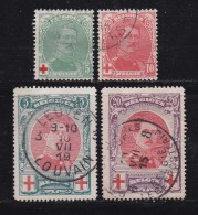 BELGIUM, 1914, Used Stamp(s), Red Cross, MI 107=112,  #10279, 4 Values Only - 1914-1915 Red Cross
