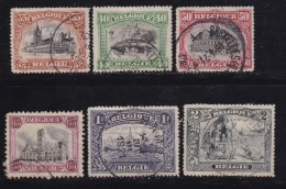 BELGIUM, 1915, Used Stamp(s), Monuments, MI 121=128,  #10281, 6 Values Only - 1914-1915 Red Cross