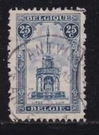 BELGIUM, 1919, Used Stamp(s), Perron De Liege, MI 143,  #10283, - 1919-1920 Trench Helmet