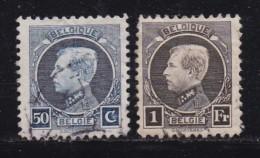 BELGIUM, 1921, Used Stamp(s), Albert I, MI 166-167,  #10286, Complete - 1921-1925 Small Montenez