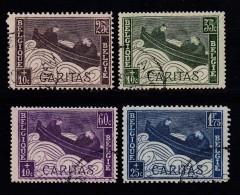 BELGIUM, 1927, Used Stamp(s), Caritas,  MI 230-234,  #10293, 4 Values Only - 1922-1927 Houyoux