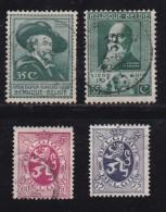 BELGIUM, 1930, Used Stamp(s), Various,  MI 276-279,  #10299, 4 Values Only - 1929-1937 Heraldic Lion