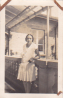 25937 -4 Photos Tennis Feminin Femme - CHEVRON - (Chalons Marne ? ) Sport Equipe -juillet 1928