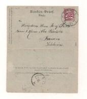 Ganzsache Karten-Brief Zalepka (Böhm.) 5 Kreuzer - 26.12.1897 Von Friedek Nach Karwin Schlesien - Ganzsachen