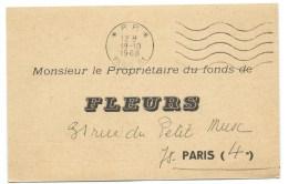 CABINET VIC CONTENTIEUX / PARIS 1968 / FONDS DE FLEURS - Advertising