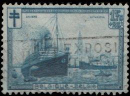 Belgique 1929. ~ YT 297 - Oeuvres Antituberculeuse. Bateau. L'escaut à Anvers