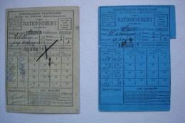 DEUX CARTES DE RATIONNEMENT SIEGE DE PARIS  1870-1871 / COMMUNE Boucherie Municipale