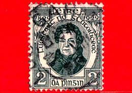 IRLANDA - EIRE - Usato - 1929 - 100 Anni Della Emancipazione Cattolica In Irlanda - Daniel O'Connell - 2 - 1922-37 Stato Libero D'Irlanda
