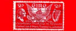IRLANDA - EIRE - Usato - 1939 - 150° Anniversario Della Costituzione USA - George Washington - 2 - Usati