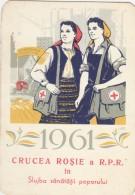 Romania - Crucea Rosie - Red Cross - Calendar 1961 - Calendars