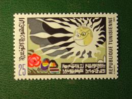 TIMBRE NEUF TUNISIE - ELMEKKI - 1985 - 25m. - NEW STAMP TUNISIA - Soleil Sun - Tunisie (1956-...)