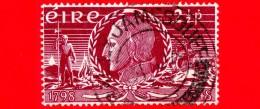 IRLANDA - EIRE - Usato - 1948 - 150° Anniversario Dell'insurrezione - Theobald Wolf Tone - 2 ½ P - Usati