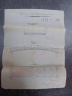 VP BELGIQUE (V1610) PASSERELLE à FRASNES 1877 (2 Vues) Ingénieur Architecte ISAAC PARIS Marchiennes-au-pont - Architectuur