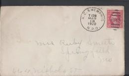 USA 1908-09 RMS Duplex Cancel, 1920 Kansas City & Memphis RPO, 2c Carmine Precisely Centered Airmail - Unclassified