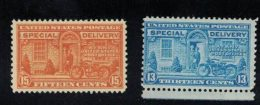 Sc#E16 15-cent & #E17 13-cent Special Delivery, Lot Of 2 MNH US Postage Stamps - Special Delivery, Registration & Certified