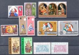 GIBRALTAR  Timbres Neufs ** Ou * De 1967 à 1973  ( Ref 4033 ) NOEL - Gibraltar