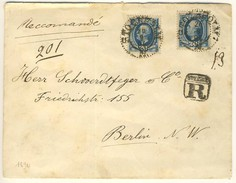 (C14) - SUEDE - REGISTRED LETTER STOCKHOLM TO BERLIN - 1894