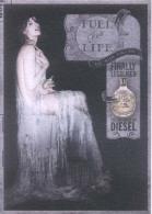 """1 X Singapore Perfume Cards Cartes Parfumees --  DIESEL FUEL FOR LIFE WOMEN  (8.25"""" X 5.75"""" ) - Modernes (à Partir De 1961)"""
