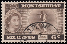MONTSERRAT - Scott #134 Badge Of Presidency (*) / Used Stamp - Montserrat