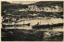 Ref G380- Canal De Panama -panama -ships In Gaillord Cut - Carte Bon Etat -postcard In Good Condition - - Panama
