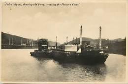 Ref G377- Canal De Panama -panama - Pedro Miguel ,showing Old Ferry  - Carte Bon Etat -postcard In Good Condition - - Panama