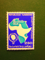 TIMBRE NEUF TUNISIE - XX° ANNIVERSAIRE DE L'OUA  - 1983 - 230m. - NEW STAMP TUNISIA - BOURGUIBA A ADDIS A BEBA 1963 - Tunisie (1956-...)