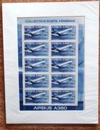 FRANCE POSTE AERIENNE 2006 - AIRBUS A380  MINI FEUILLE F69  F 69 SOUS EMBALLAGE D´ORIGINE - Poste Aérienne