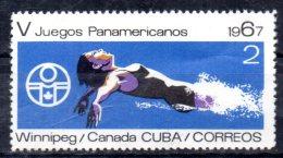 CUBA   N° 1123  * *  Natation