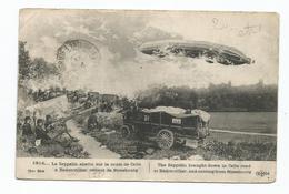 Badonviller Le Zeppelin Abattu Sur La Route De Celle - Frankrijk