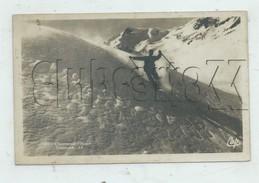 Chamonix (74) : GP D'un Skieur Faisant Du Télémark  Env 1930 (animé)PF. - Chamonix-Mont-Blanc