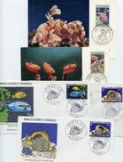 5 FDC Divers (POISSONS Et MOLLUSQUES) - FDC