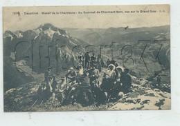 Saint-Pierre-de-Chartreuse (38) : GP D'excursionnistes Au Sommet Du Charmant Som  Env 1910 (animé) PF. - Sonstige Gemeinden