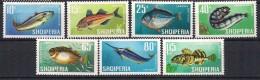 Albania 1967 Fishes, Mi 1131-1137  MNH(**) - Albanie